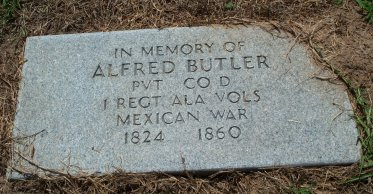 Grave of Mexican War Veteran Alfred Butler